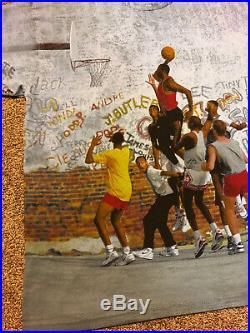 Vintage 1999 Jordan Nike Playground T-Shirt Men's sz XXL All over Print OG Mint