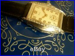 Vintage Art Deco Milos mens watch Savoy Mint Condition 1930s All Original WOW