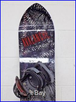 Vintage Avalanche RAT Radial-All-Terrain 157cm Snowboard UBC Asymmetrick Binding