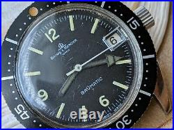 Vintage Baume & Mercier Skin Diver withMint Dial, Patina, All SS Case, Runs Strong