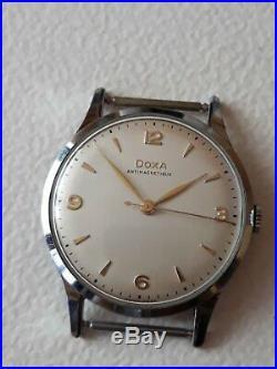 Vintage Doxa Big 37mm Watch 1954 All Original MINT