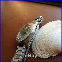 Vintage Elgin Day-Date Diver withMint Dial, Patina, Faded Bezel, All SS Case, PUW 1363
