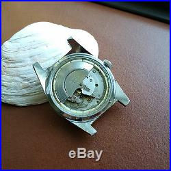 Vintage Elgin Day-Date Divers Watch withMint Dial, Patina, Faded Bezel, All SS Case