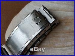Vintage Omega Genève withMint Blue Dial, Patina, Divers All SS Case, Orig Bracelet