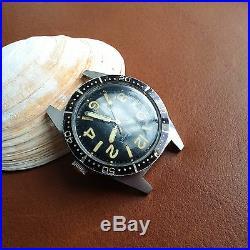Vintage Paul Peugeot Diver withMint Dial, Warm Patina, Countdown Bezel, All SS Case