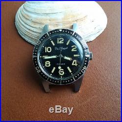 Vintage Paul Peugeot Divers/Diving Watch withMint Dial, Countdown Bezel, All SS Case