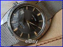 Vintage Technos Sky Light withMint Dial, Warm Patina, All SS Divers Case, Orig Band