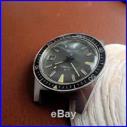Vintage Tradition Divers Watch withMint Dial, Quickset Date, Warm Patina, All SS Case