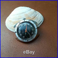 Vintage Waltham Diver withMint Dial, Warm Patina, Signed Crown, All SS Case, FHF 90-5