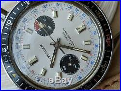 Vintage Westclox Chronograph withMint Dial, Patina, Divers All SS Case, Valjoux 7733
