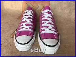 Vtg Converse All Star Men's Low Top Sneakers Pink 9.5 Made In USA Near Mint