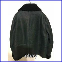 Yeezy season 3 All Mouton oversized leather jacket L MINT